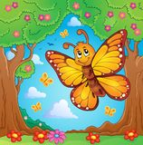 Image heureuse 4 de sujet de papillon Images stock