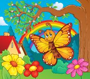 Image heureuse 3 de sujet de papillon Images stock