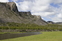 Madison River valley Yellowstone Royalty Free Stock Images