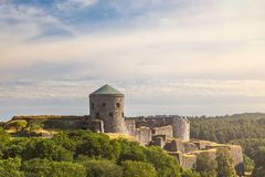 Bohus hillside fortress ruin. Image the hillside fortress ruin of Bohus in Kungalv, Sweden Royalty Free Stock Images