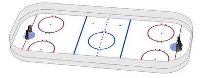 Image of hockey field Royalty Free Stock Photos