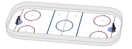 Image of hockey field Royalty Free Stock Photos