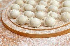 Image of homemade ravioli floured Stock Photos