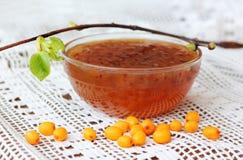 Image of homemade sea buckthorn jam Stock Image