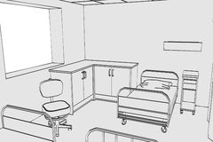 Image of hospital room Royalty Free Stock Image
