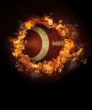 Image of hot burning football. On black background Royalty Free Stock Image