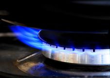 Hot gas ring in the kitchen. Image of hot gas ring in the kitchen ready for cooking royalty free stock image