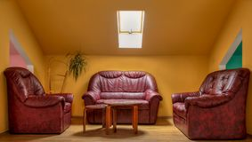 Hotel Lounge. Image of a hotel lounge with a corridor and armchairs Royalty Free Stock Photography