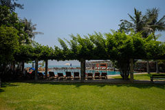 Image of hotel pool at Hua Hin Thailand Royalty Free Stock Photo