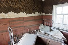 After flood. Image of house after flood royalty free stock images
