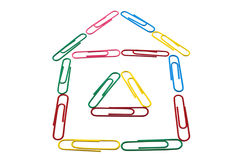 Image of house from office paper clips Stock Images