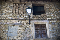 Image of a house in Puebla de Roda, Spain Royalty Free Stock Photos