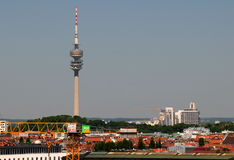 An image of the huge Munich tv tower Royalty Free Stock Image