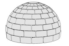 Image of igloo building Stock Photo