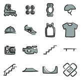 Inline Icons Freehand 2 Color Royalty Free Stock Images