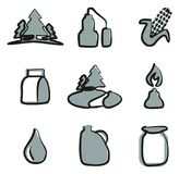 Moonshine Icons Freehand 2 Color Stock Photos