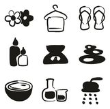 Spa Icons Freehand Fill. This image is a illustration and can be scaled to any size without loss of resolution Stock Image