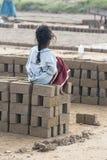 Image illustrative éditoriale childs dans la rue, Inde Photographie stock