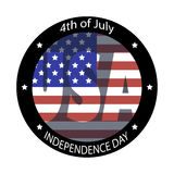 The image for Independence Day. Image of the American flag and the phrases Independence Day,4th of July on the white background Royalty Free Stock Image