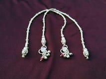 Indian traditional leg wear jewelry Payal or kandora stock images