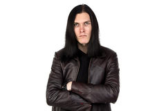 Image of informal man with long hair Stock Images