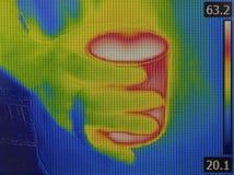 Image infrarouge de tasse de thé images libres de droits