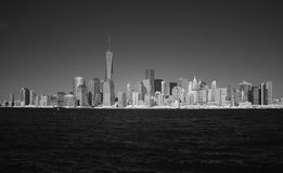 Image infrarouge du Lower Manhattan de Liberty Park Photos stock