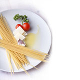 Italian pasta meal ingridients royalty free stock photography