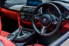 Image inside of BMW 420d Convertible M Sport. Royalty Free Stock Images