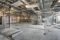 Interior Building construction site Stock Image