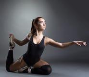 Image of inspired ballerina posing in studio Royalty Free Stock Photography