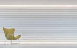 Image intérieure du rendu 3d de salon blanc moderne Image stock
