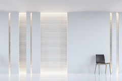 Image intérieure du rendu 3d de salon blanc moderne Photos libres de droits