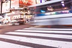 Image intentionnellement brouillée de New York City, twillight Photo stock