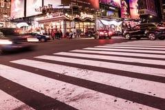 Image intentionnellement brouillée de New York City, twillight Image libre de droits