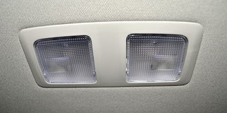 Car interior lights Stock Photo