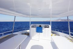 Cabin of yacht. Image of an interior of yacht Royalty Free Stock Photos