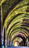 Image interne d'un monastère antique Images libres de droits