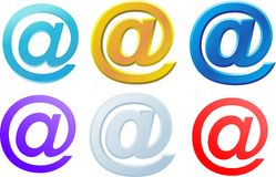 Image of Internet symbol @. Internet symbols are very popular and they are recognizable all over the world Stock Photo