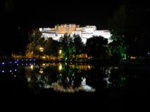 Image inversée de palais de Potala Image stock