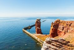 The Isle of Helgoland in full daylight in August royalty free stock images