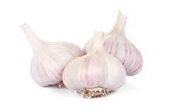 Image of isolated garlics Royalty Free Stock Photography