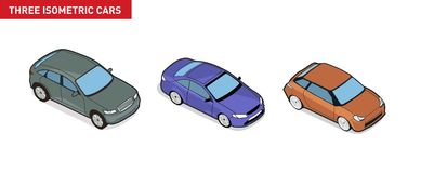 Image isométrique d'un véhicule Image libre de droits