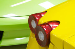 An image of a Italian sports cars in green yellow Royalty Free Stock Images