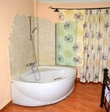 Jacuzzi in a hotel room Royalty Free Stock Images