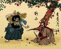 Image japonaise de type d'impression de woodblock illustration libre de droits