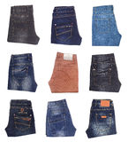 Image of jeans trousers collection Stock Photos