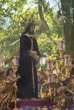 Jesus captive in the procession of the Holy Week in Seville. Image of Jesus captive in the procession through the streets of Seville in its holy week Stock Photography