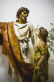 Image of Jesus Christ with white mantle, worship and religion Royalty Free Stock Images
