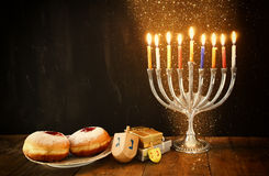 Image of jewish holiday Hanukkah. Royalty Free Stock Photo